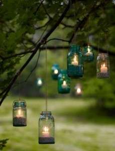 Hanging Candle Jars