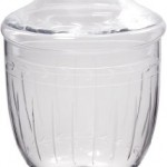 Elegant-Clear-Etched-Glass-Apothecary-Jar-with-Lid-75-inch-High-Glass-Canister-0