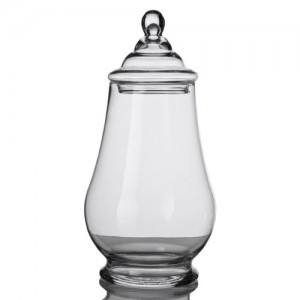 Elegant-Clear-Glass-Apothecary-Jar-with-Lid-15-inch-High-Glass-Canister-0