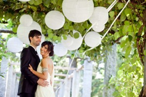 Elegant White Lanterns with Ribbons