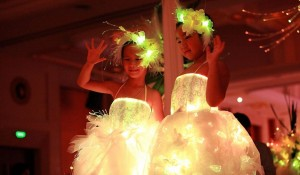 Flower Girl Dress with LED light