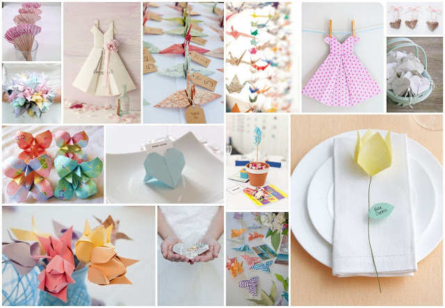 Wedding origami decorations mitee for Decoration origami