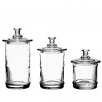La-Rochere-3-Piece-French-Glass-Kitchen-ApothecaryStorage-clear-Jar-Set-0