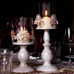 Lamp Shades as Candle Holders