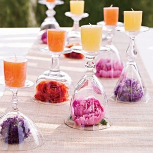 Wine Glasses as Apothecary Jars